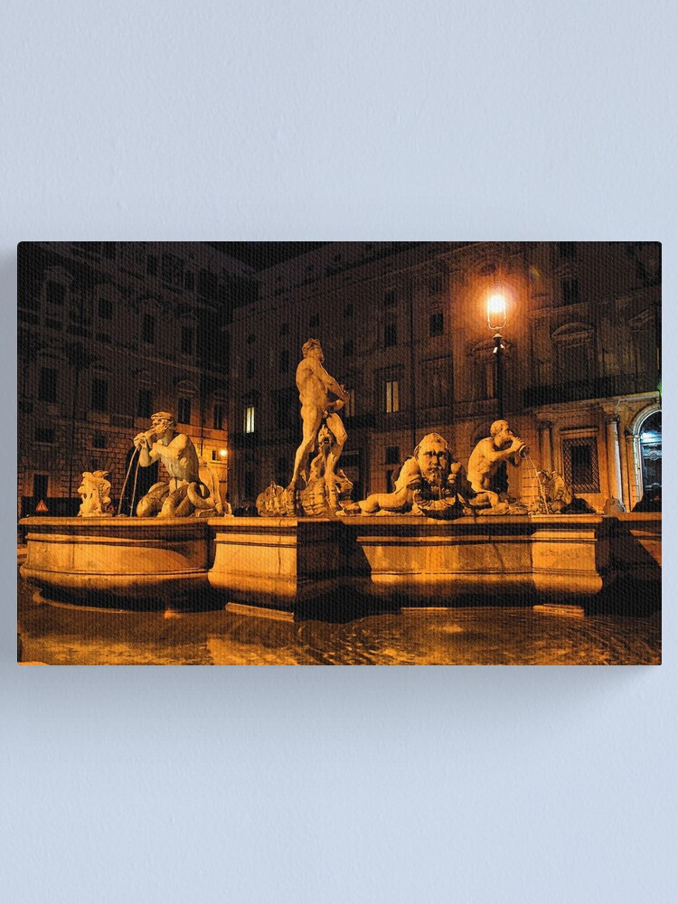 Alternate view of La Fontana del Moro Canvas Print