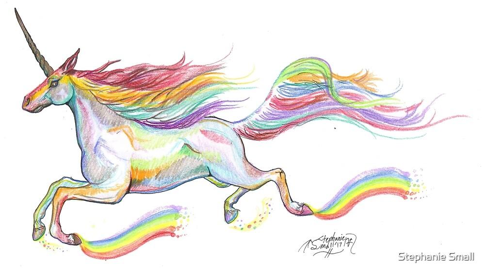 Vaalathra Rainbow Unicorn Colorful Horse Pony by Stephanie Small