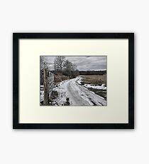 Country Lane in Ohio Framed Print