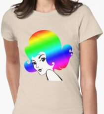 Rainbow Head Womens Fitted T-Shirt
