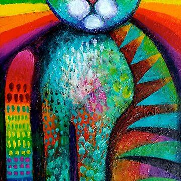 Psychadelic Cat by karincharlotte