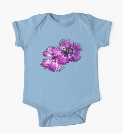 Dianthus (T-Shirt), dark, watercolor effect Kids Clothes