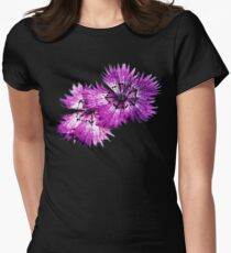 Dianthus (T-Shirt), dark, watercolor effect Womens Fitted T-Shirt
