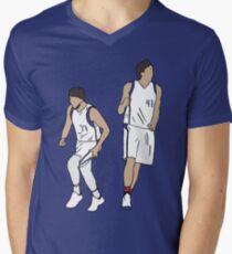 Luka Doncic And Dirk Nowitzki Men's V-Neck T-Shirt