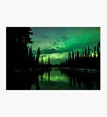 Aurora Off a River Photographic Print