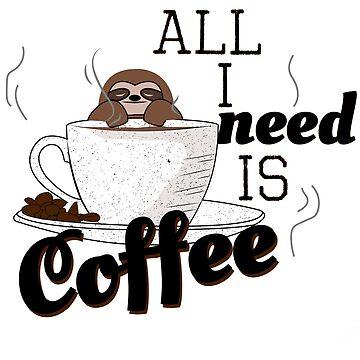 Sloth coffee by themd-haendler