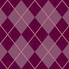 Maroon Argyle Pattern by Alex Heberling