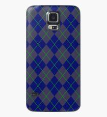 Blue Argyle Pattern Case/Skin for Samsung Galaxy