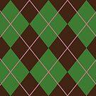 Green Argyle Pattern by Alex Heberling