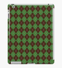 Green Argyle Pattern iPad Case/Skin
