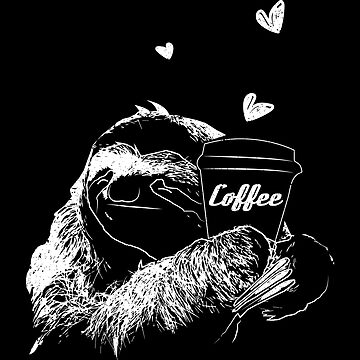 Sloth loves coffee by themd-haendler