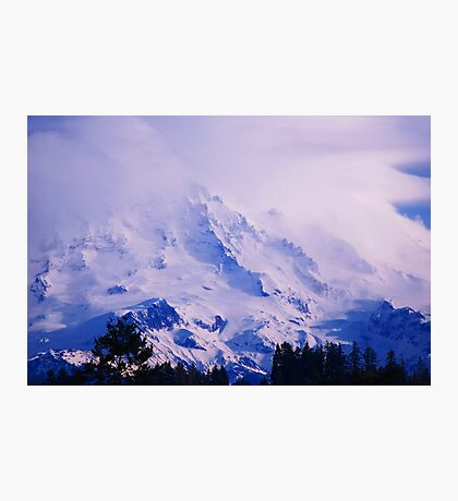 Lavender Rainier Photographic Print