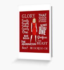 Glorificus - Buffy the Vampire Slayer Greeting Card