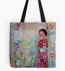 Frauen im Garten Tote Bag