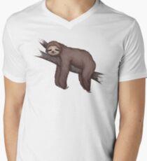 Sleepy Sloth Men's V-Neck T-Shirt