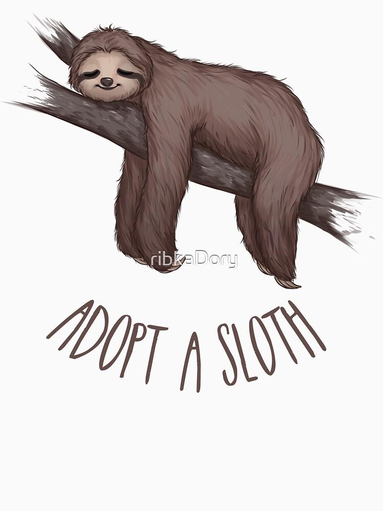 adopt a sloth by ribkaDory