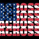 Lacrosse American USA Lacrosse by SportsT-Shirts