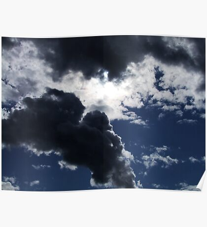 Sun and Clouds Poster