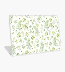 Watercolor leaves pattern Laptop Skin