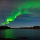 Aurora Reflection on the Lake by Aaron Lojewski