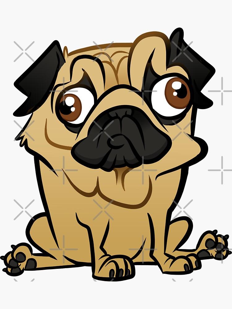 Pug Caricature by binarygod