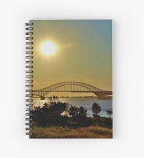 Summer Sunset Over Robert Moses Beach Bridge Spiral Notebook