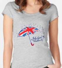 Union jack weather umbrella Women's Fitted Scoop T-Shirt