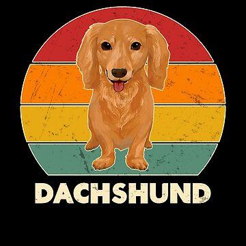 Vintage Retro Dachshund Sausage Dog Lover Gift by JapaneseInkArt