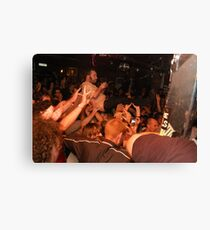 """Joel crowd surfing at the end of """"My Pal"""" Canvas Print"""