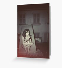 Teenage dreams on the Rooftop Greeting Card
