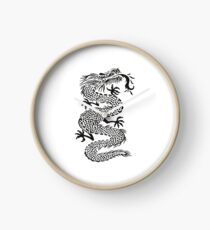 Chinese Art Dragon Cartoon Design Clock