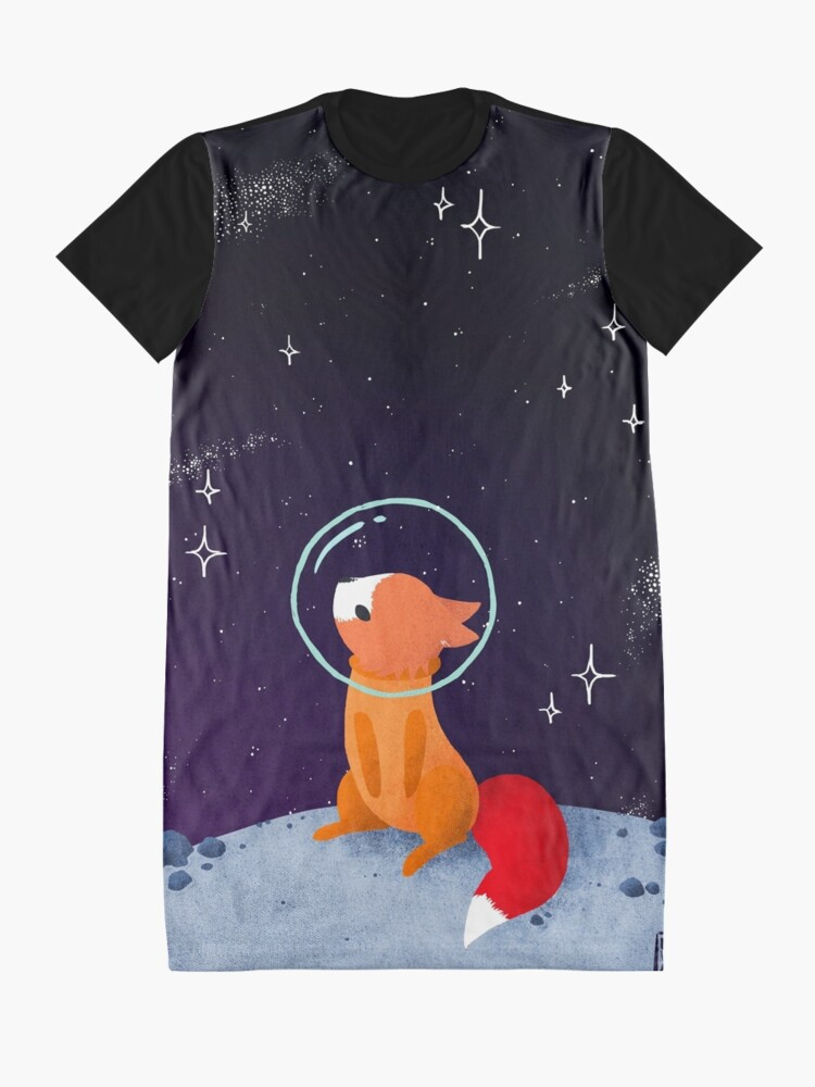 Alternate view of Somewhere Out There Graphic T-Shirt Dress