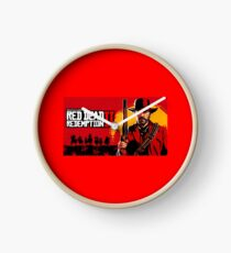 Red Dead Redemption Poster Clock