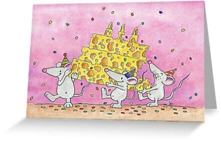 CHEESY BIRTHDAY WISHES Postcard By Nicole Janes Nicolejanes