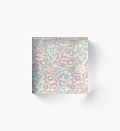 Funny Mess #redbubble #abstractart Acrylic Block