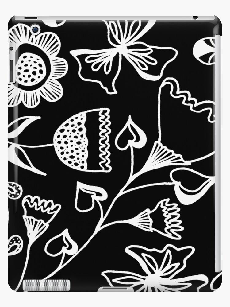 Folk Art in Schwarz Weiß von RanitasArt