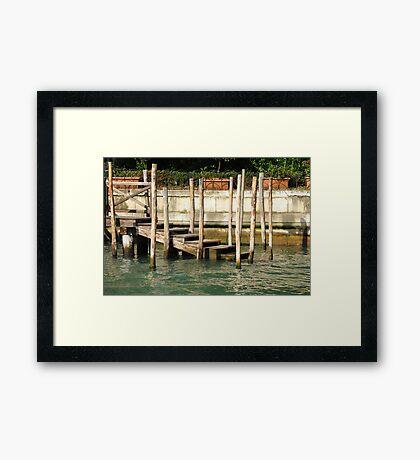 Traghetto Stop Framed Print