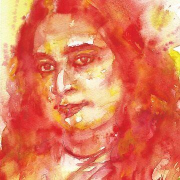 PARAMAHANSA YOGANANDA - watercolor portrait.6 by lautir