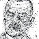 THOMAS MANN - ink portrait by lautir
