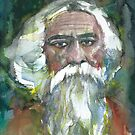 TAGORE - watercolor portrait.6 by lautir