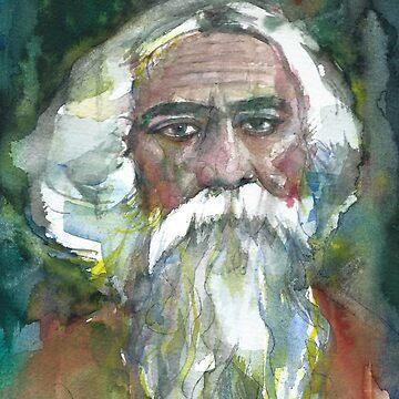 TAGORE - watercolor portrait.6 by lautir