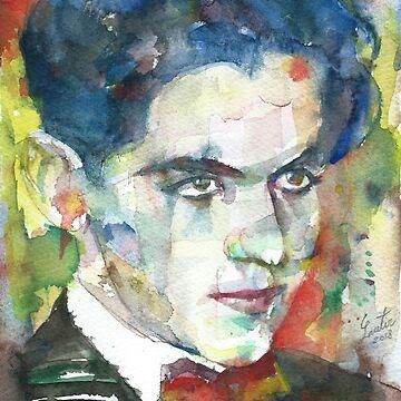 FEDERICO GARCIA LORCA - watercolor portrait.7 by lautir