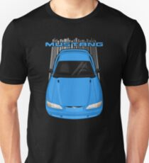 Mustang GT 1994 to 1998 SN95 - Bright atlantic blue Unisex T-Shirt
