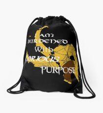I am burdened with glorious purpose Drawstring Bag