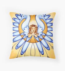 Virgo - spread your wings, fly the skies! Throw Pillow