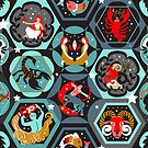 Hexagon zodiacs  by camcreativedk