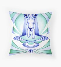 Aquarius - Let your cups fill oceans. Throw Pillow