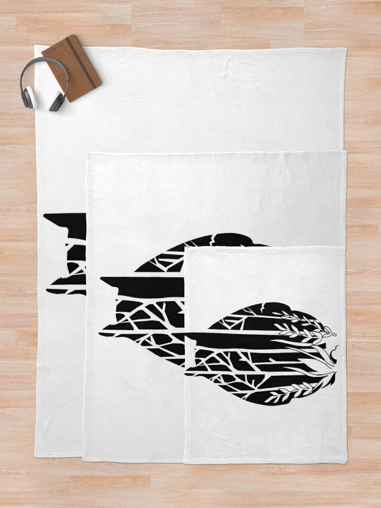 Alternate view of Totoro Throw Blanket