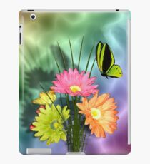 Painted Daisies and Butterflies iPad Case/Skin
