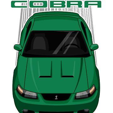Mustang Cobra Terminator 2003 to 2004 - Green by V8social